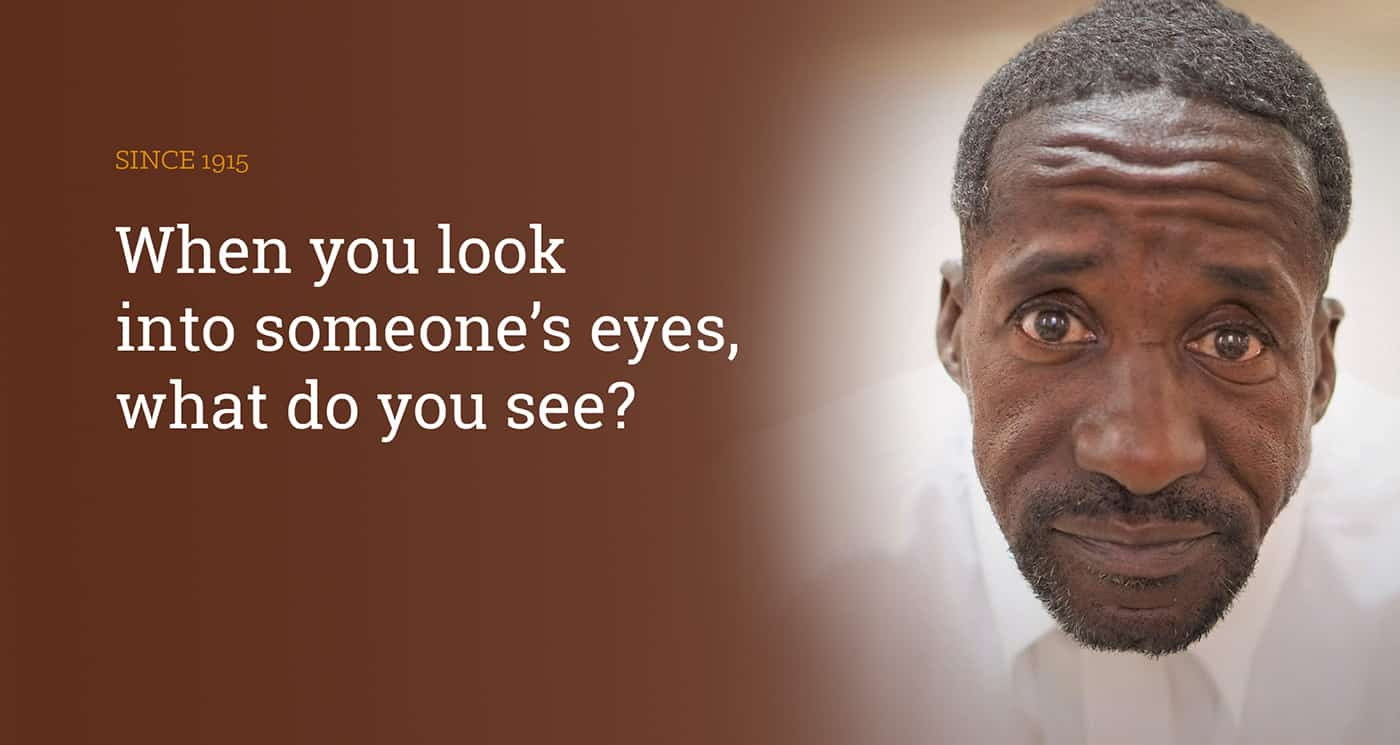 When you look into someone's eyes, what do you see?