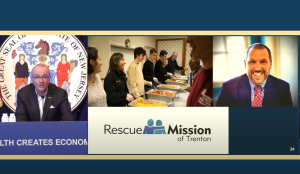 Governor Murphy speaks about the Mission's work